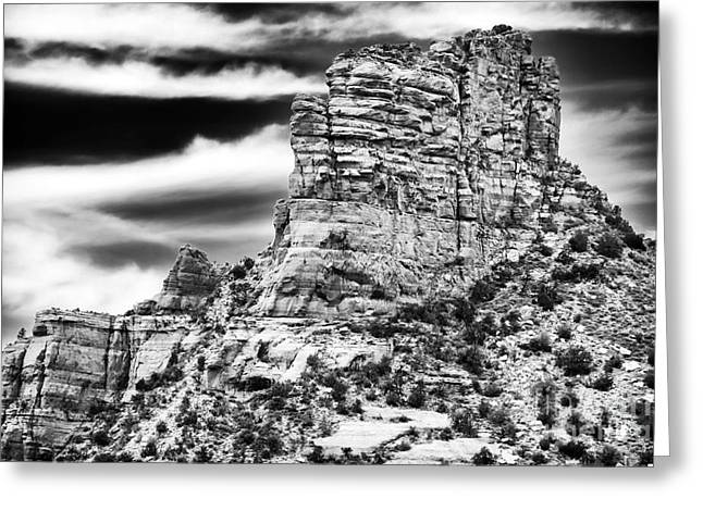 Contemporary Western Fine Art Greeting Cards - Western View Greeting Card by John Rizzuto