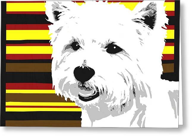 Westie Digital Art Greeting Cards - Westie Greeting Card by Cindy Edwards