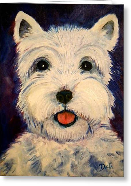 Doggie Art Greeting Cards - Westie Greeting Card by Debi Starr