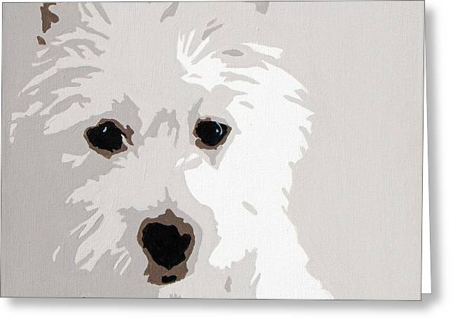 Arts Greeting Cards - Westie Greeting Card by Slade Roberts