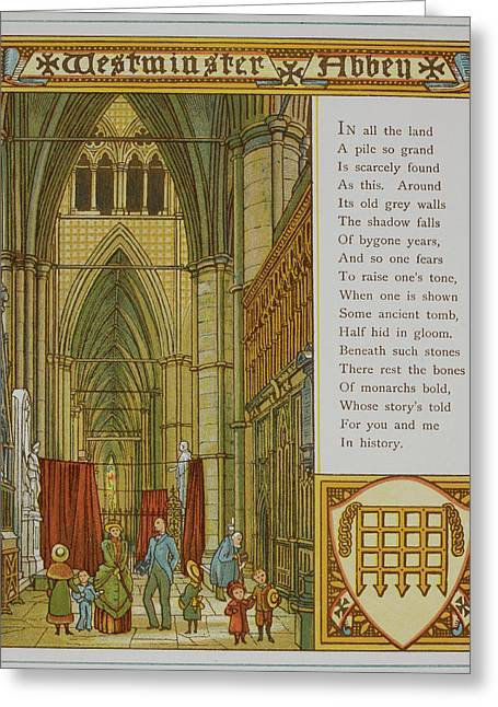 Westminster Abbey Greeting Card by British Library