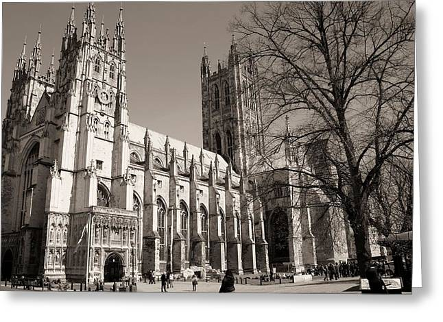 London Pyrography Greeting Cards - Westminster Abbey Greeting Card by Jenifer Madsen
