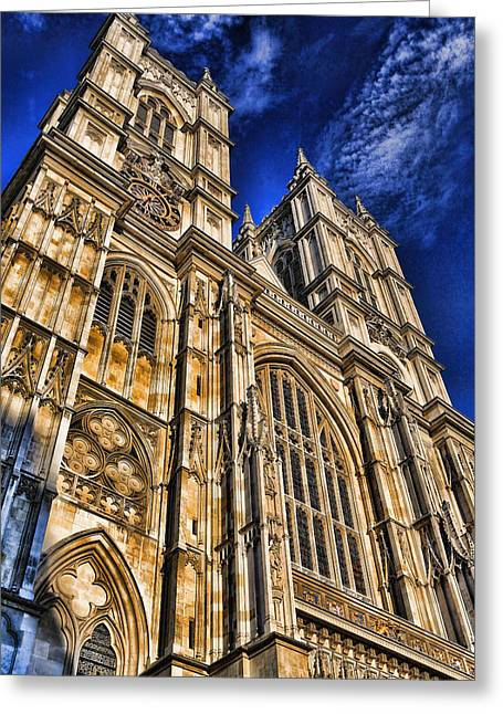 Historic Site Greeting Cards - Westminster Abbey West Front Greeting Card by Stephen Stookey
