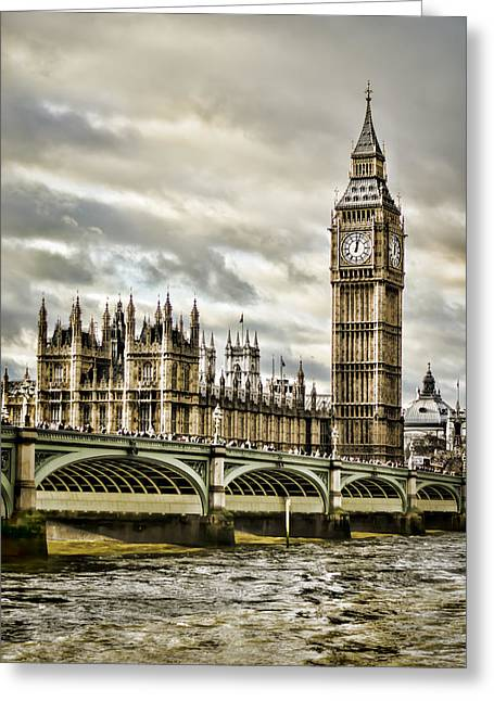 British Royalty Greeting Cards - Westminster Greeting Card by Heather Applegate