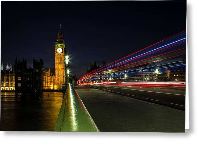 Leading Lines Greeting Cards - Westminster Greeting Card by Martin Newman