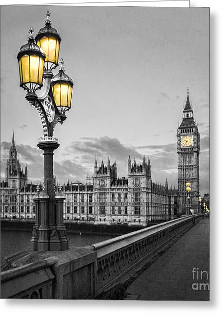 Westminster Greeting Cards - Westminster Morning Greeting Card by Colin and Linda McKie