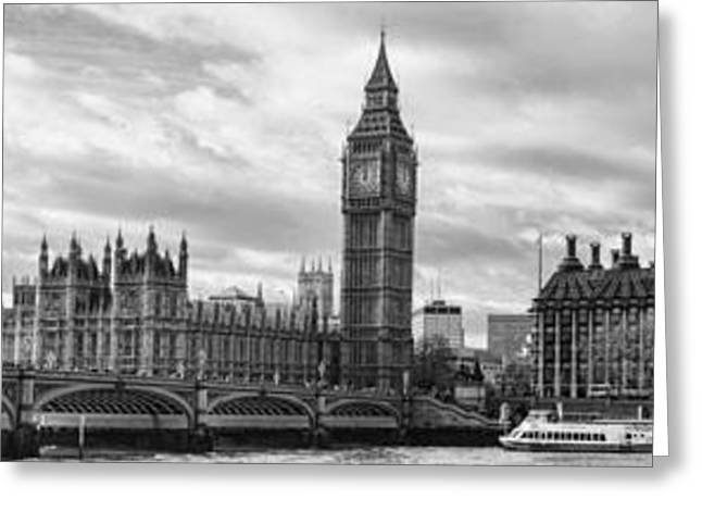 Westminster Panorama Greeting Card by Heather Applegate