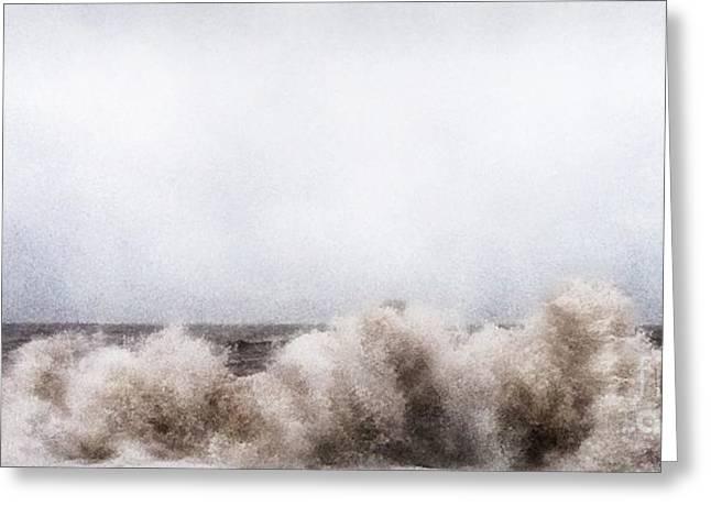 Summer Storm Greeting Cards - Weston Beach Jurassic Coast Devon Greeting Card by Curtis Radclyffe