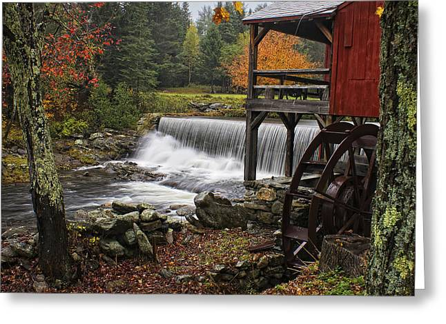 Vermont Country Store Greeting Cards - Weston Grist Mill Greeting Card by Priscilla Burgers