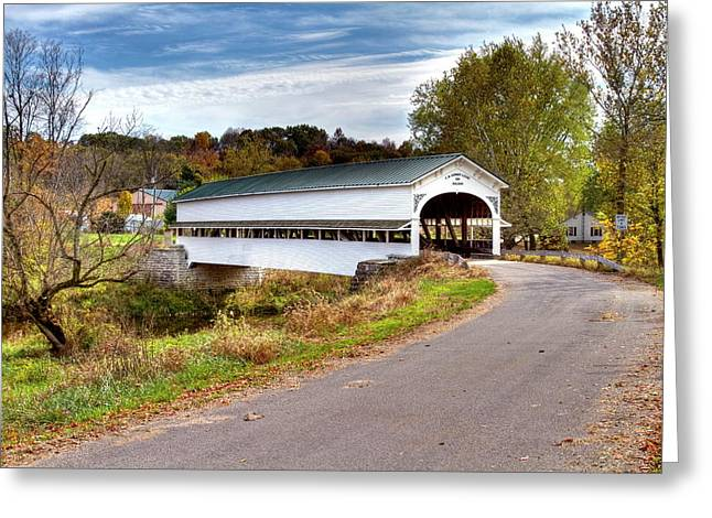 Jack R Perry Greeting Cards - Westport covered bridge Greeting Card by Jack R Perry