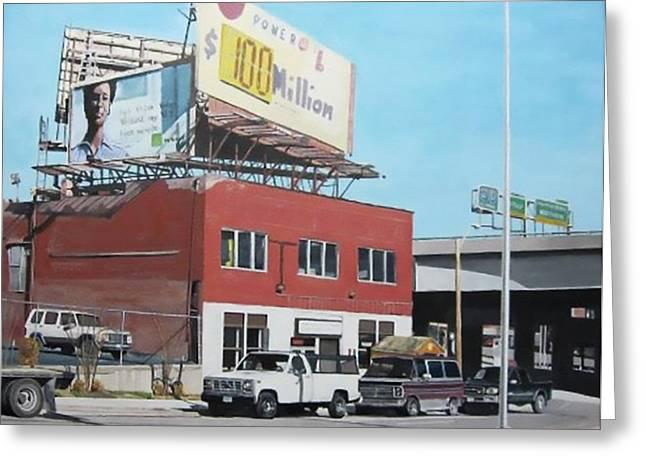 Kansas City Paintings Greeting Cards - Westside KC Greeting Card by Patricio Lazen