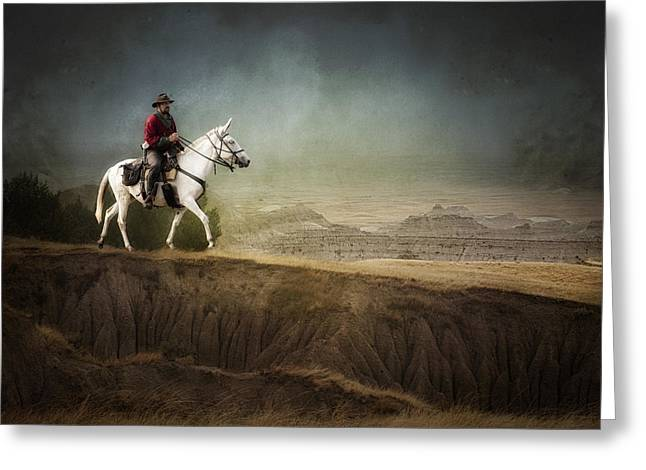Westward Greeting Card by Ron  McGinnis