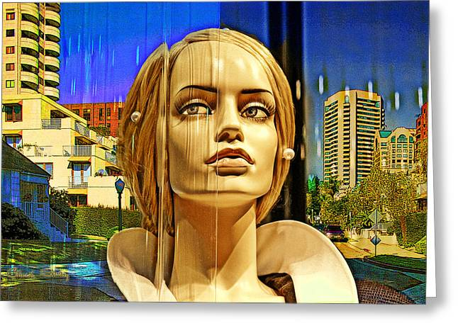 Ladies Of Rodeo Drive Greeting Cards - Westwood Towers Greeting Card by Chuck Staley