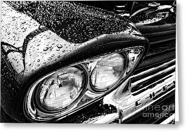 Retro Antique Photographs Greeting Cards - Wet Chevy Greeting Card by Olivier Le Queinec