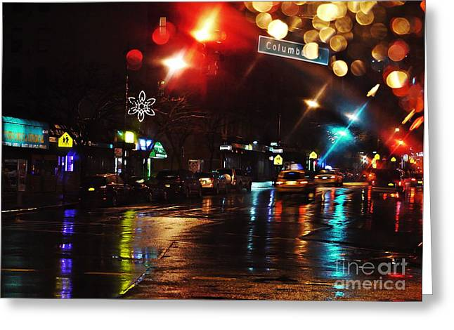 Medical Greeting Cards - Wet City Greeting Card by Sarah Loft