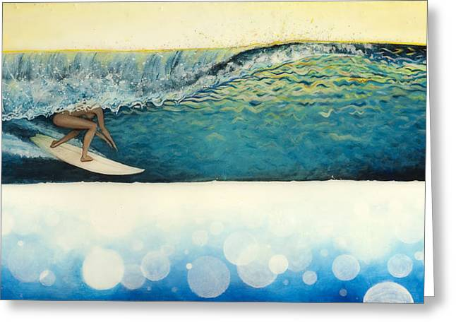 Surfer Art Greeting Cards - Wet Dream Greeting Card by Kelly Meagher