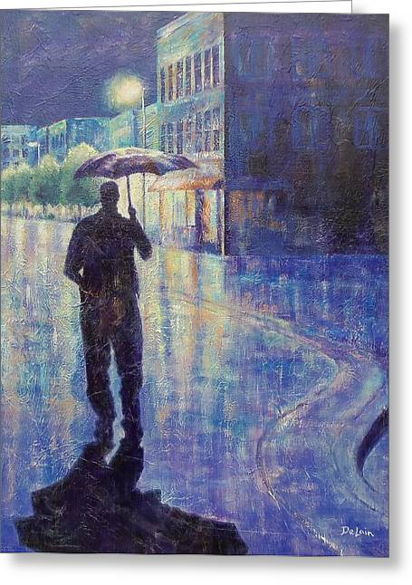 Award Greeting Cards - Wet Night Greeting Card by Susan DeLain