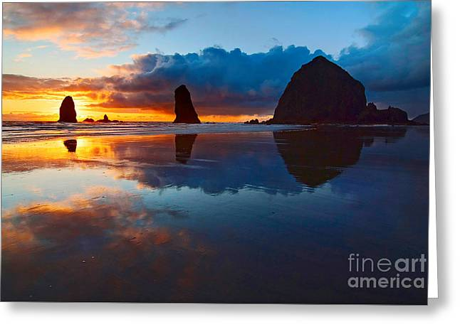Monolith Greeting Cards - Wet Paint - Sunset in Oregon Greeting Card by Jamie Pham
