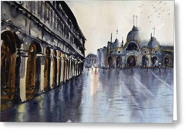 Swarm Greeting Cards - Wet Venice Greeting Card by James Nyika