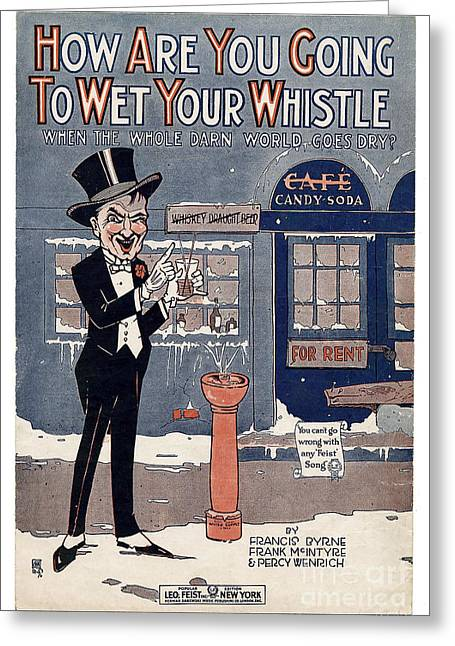 1920s Drawings Greeting Cards - Wet Your Whistle Greeting Card by Jon Neidert