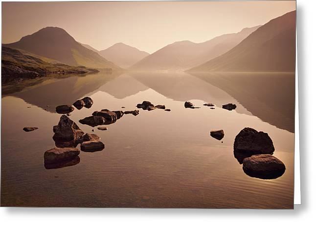Cumbria Greeting Cards - Wetlands Mornings Greeting Card by Evelina Kremsdorf