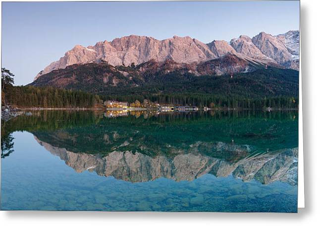 Mountain Greeting Cards - Wetterstein Mountains, Zugspitze Greeting Card by Panoramic Images