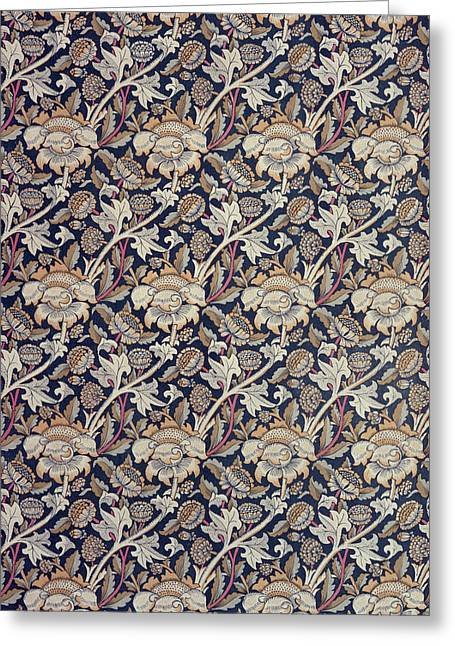 Flower Tapestries - Textiles Greeting Cards - Wey design Greeting Card by William Morris