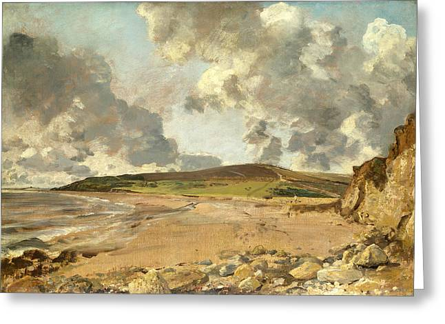 Weymouth Bay . Bowleaze Cove And Jordon Hill Greeting Card by John Constable