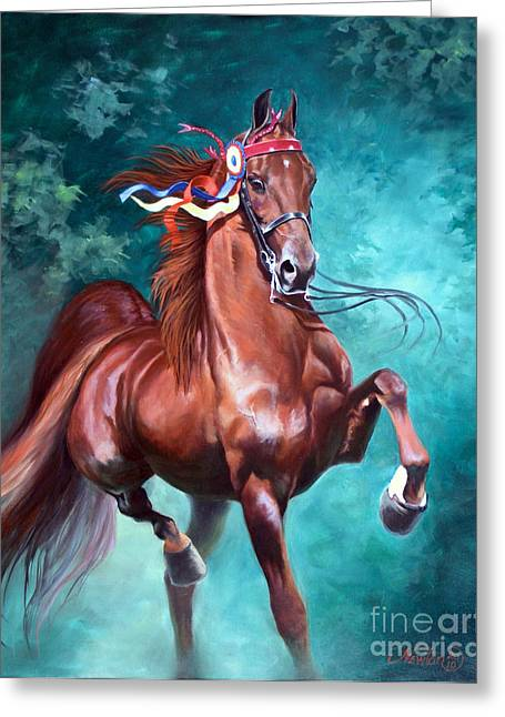 Equine Greeting Cards - WGC Courageous Lord Greeting Card by Jeanne Newton Schoborg