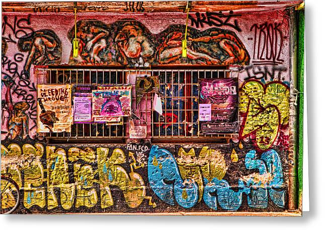 Graffiti Art For The Home Greeting Cards - Whacky windows Greeting Card by Graham Hawcroft pixsellpix