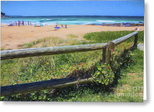 Whale Beach Greeting Cards - Whale Beach Sydney Greeting Card by Sheila Smart