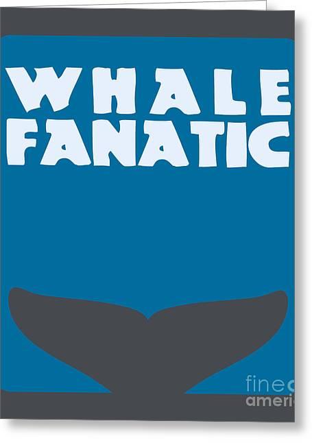 Fanatic Digital Greeting Cards - Whale fanatic Greeting Card by Shawn Hempel