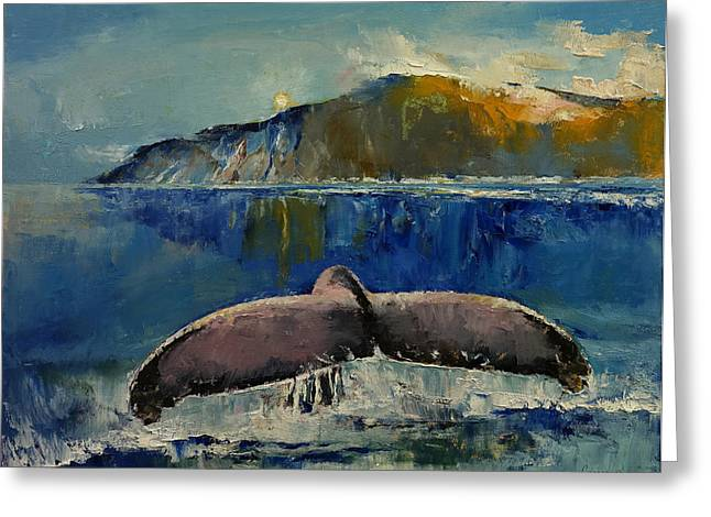 Queue Greeting Cards - Whale Song Greeting Card by Michael Creese