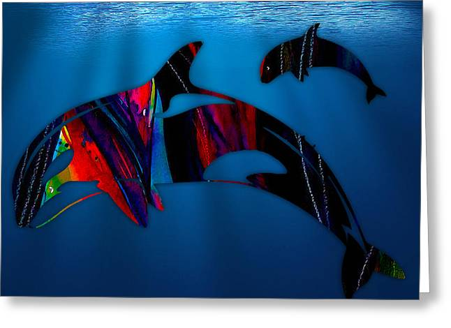 Whale Watching Greeting Card by Marvin Blaine