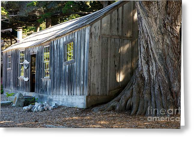Point Lobos Greeting Cards - Whalers Cabin Greeting Card by Vinnie Oakes
