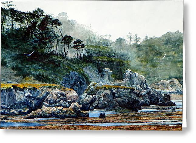 Point Lobos Greeting Cards - Whalers Cove II Greeting Card by Bill Hudson