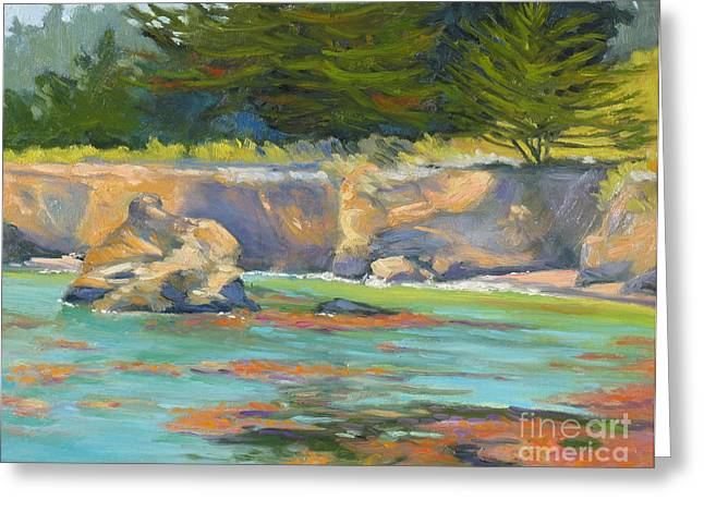 Whalers Cove Greeting Cards - Whalers Cove Point Lobos Greeting Card by Rhett Regina Owings
