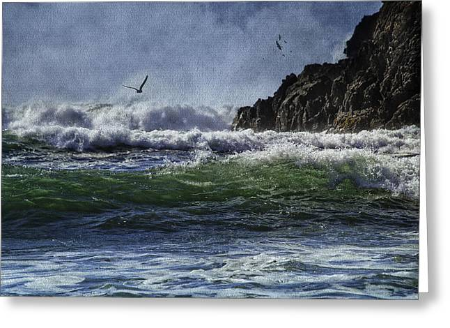 Diane Schuster Greeting Cards - Whales Head Beach Southern Oregon Coast Greeting Card by Diane Schuster