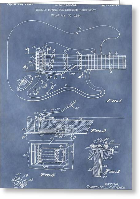 Tension Mixed Media Greeting Cards - Whammy Bar Patent Greeting Card by Dan Sproul