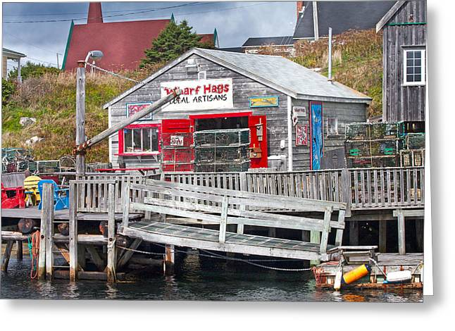 Visitation Greeting Cards - Wharf Hags Peggys Cove Greeting Card by Betsy A  Cutler