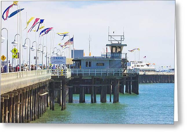 Santa Cruz Wharf Greeting Cards - Wharf Line Greeting Card by George  Saitas
