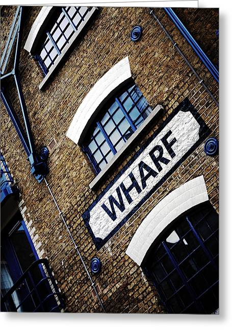 Urban Buildings Greeting Cards - Wharf Greeting Card by Mark Rogan
