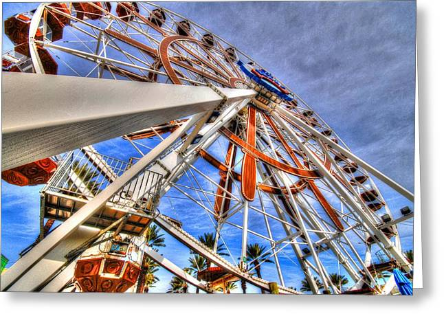 Crimson Tide Greeting Cards - Wharf Wheel Greeting Card by Michael Thomas
