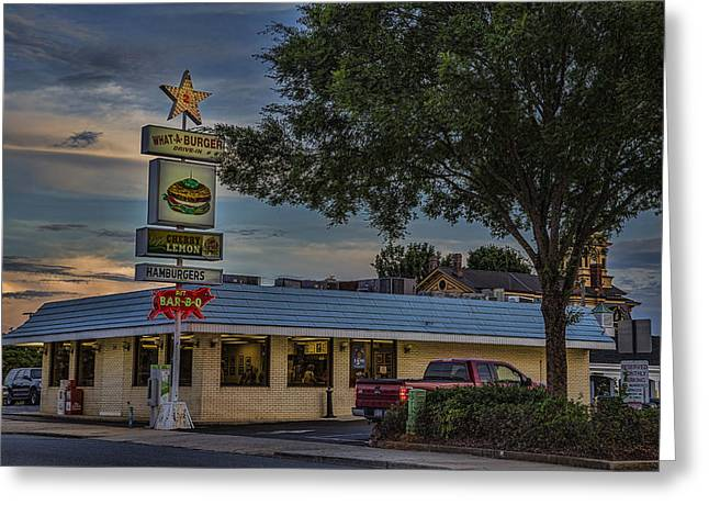 Concord Greeting Cards - What A Burger Greeting Card by Cindi Poole