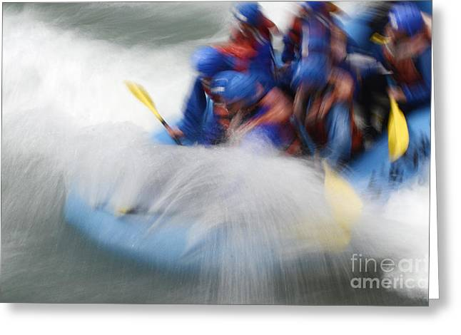 Canada Sports Greeting Cards - White Water Rafting What a Rush Greeting Card by Bob Christopher