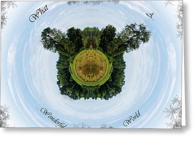 Jordan Greeting Cards - What A Wonderful World Greeting Card by Jordan Blackstone