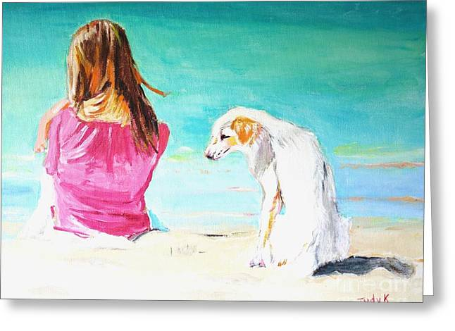 Beach Greeting Cards - What About Me  Greeting Card by Judy Kay