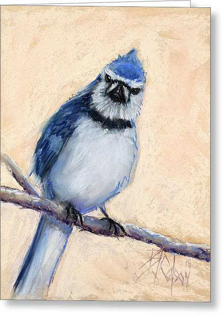 Blue Pastels Greeting Cards - What are YOU looking at Greeting Card by Billie Colson