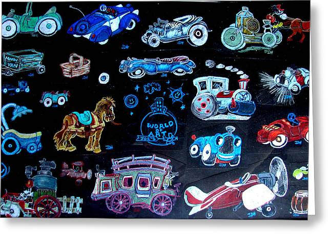 Antena Greeting Cards - What Car Should We Take Greeting Card by Joseph Hawkins