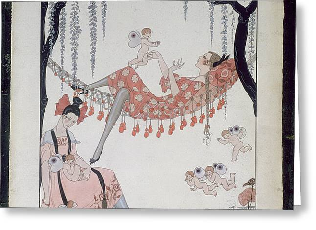 What Do Young Women Dream Of? Greeting Card by Georges Barbier